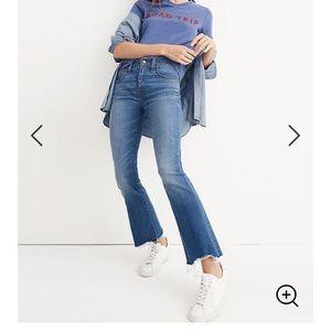 Madewell Stretch Cali-Demi Boot Jean Size 30